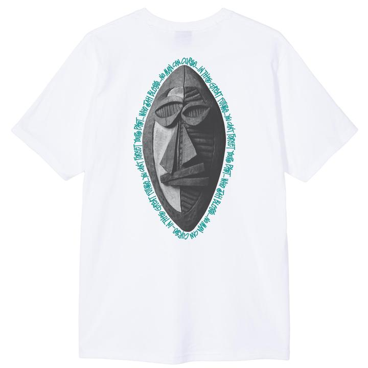 STÜSSY TRIBAL MASK TEE // WHITE