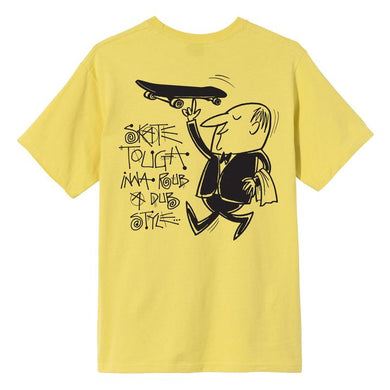 STÜSSY WAITER TEE // LEMON