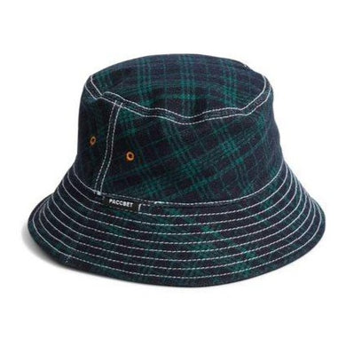 RASSVET MEN'S BUCKET HAT // GREEN CHECKS