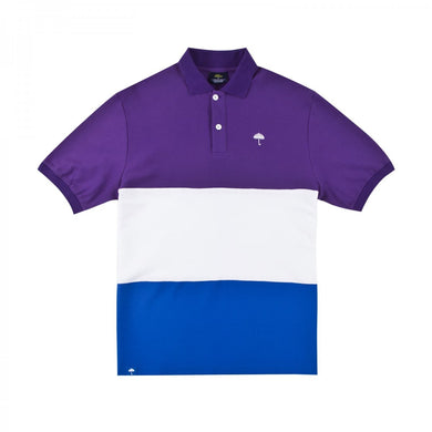 HÉLAS TRIO POLO // PURPLE/WHITE/BLUE