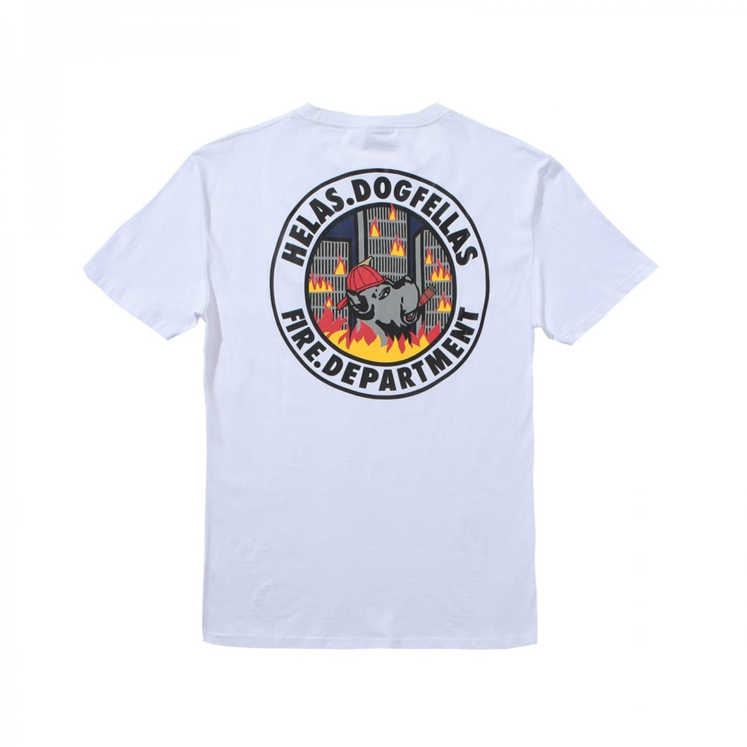 HÉLAS FIRE DEPT TEE // WHITE