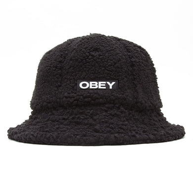 OBEY QUINN BUCKET HAT // BLACK