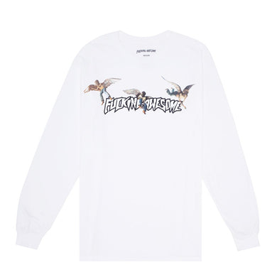 FUCKING AWESOME ANGEL STAMP L/S TEE // WHITE