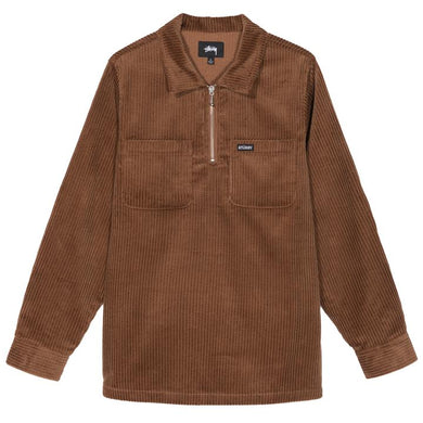 STÜSSY GARRETT BIG WALE CORD SHIRT // BROWN