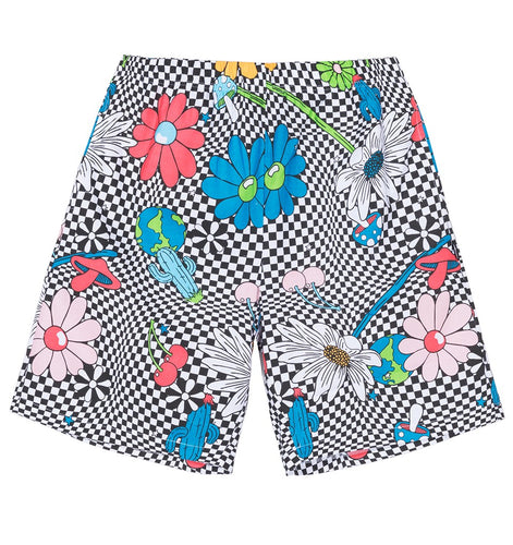 STÜSSY VACATION CHECKER PRINTED SHORT // WHITE