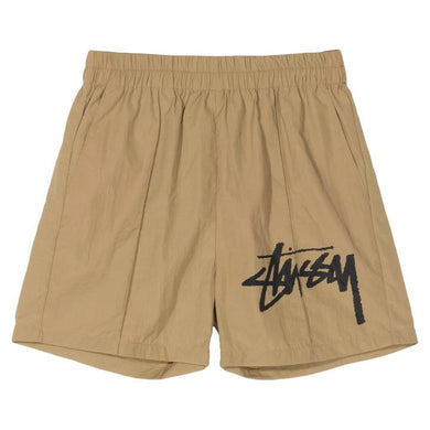 STÜSSSY LEAGUE CRINKLE SHORT // KHAKI