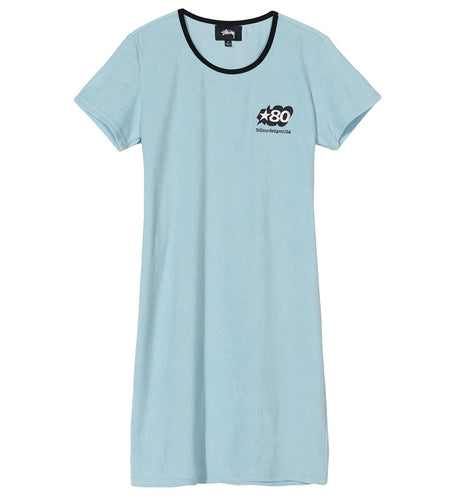 STÜSSY BARRA MINI DRESS // LIGHT BLUE