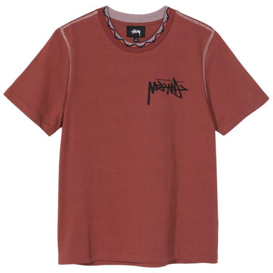 STÜSSY CLARITA INSIDE OUT TEE // BRICK