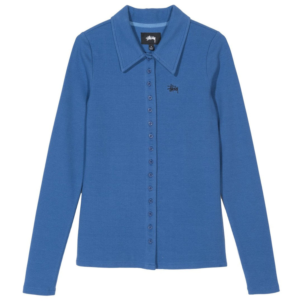 STÜSSY MAYA LS BUTTON DOWN // BLUE