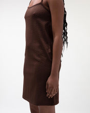 STÜSSY TONAL JACQUARD DRESS // BROWN