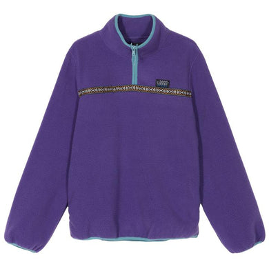 STÜSSY SUMMIT HALF ZIP POLAR FLEECE // PURPLE