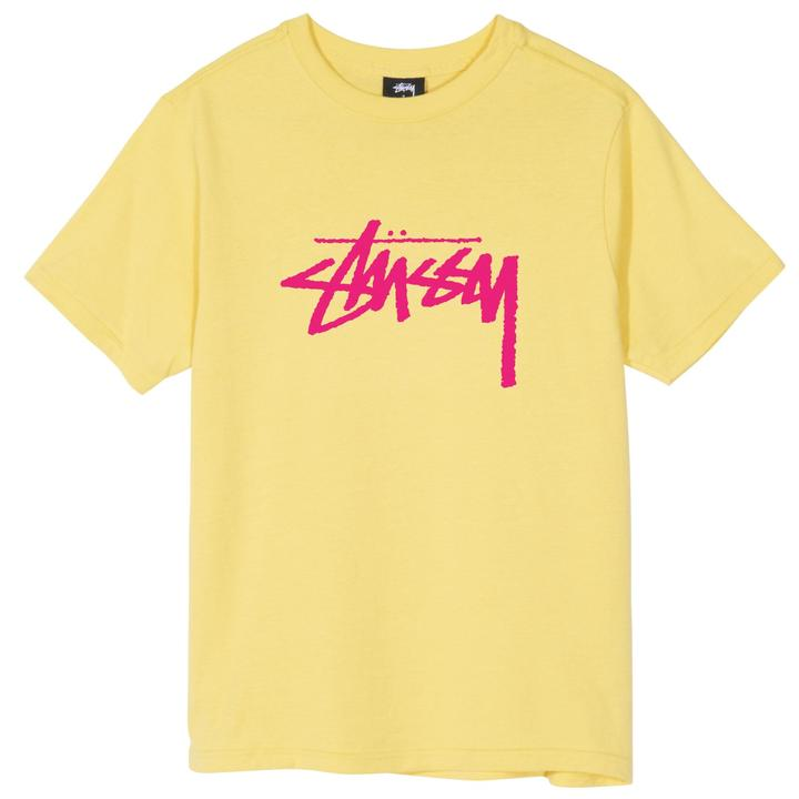 STÜSSY STOCK TEE // YELLOW (WMNS)
