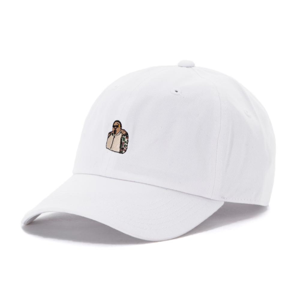 3c0e96c3 40S & SHORTIES BROOKLYN'S FINEST DAD HAT (BIGGIE) // WHITE-The Collateral
