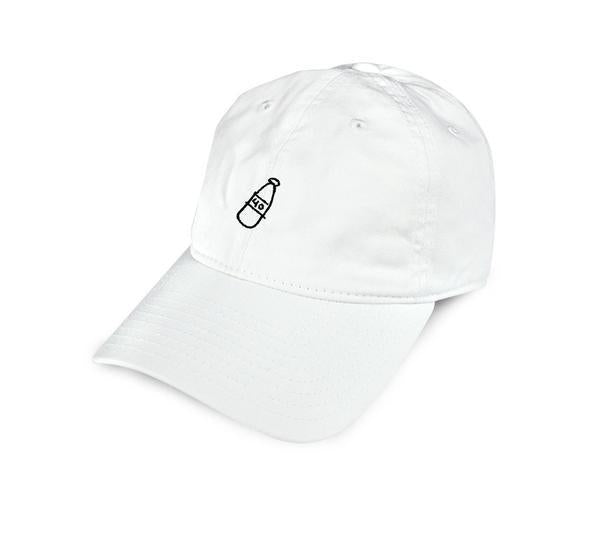 40S & SHORTIES SCRIBBLE BOTTLE DAD HAT // WHITE-The Collateral