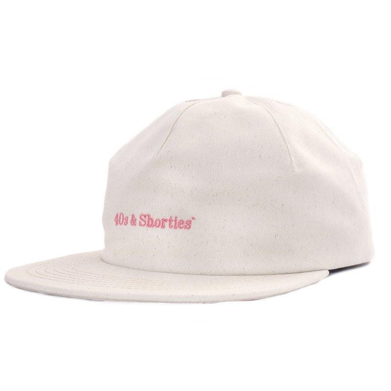 40S & SHORTIES TEXT LOGO 2 PANEL HAT // NATURAL-The Collateral