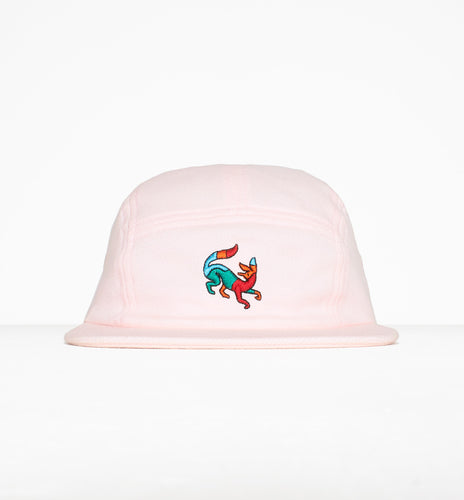 PARRA 5 PANEL VOLLEY HAT CONFUSED FOX // PINK