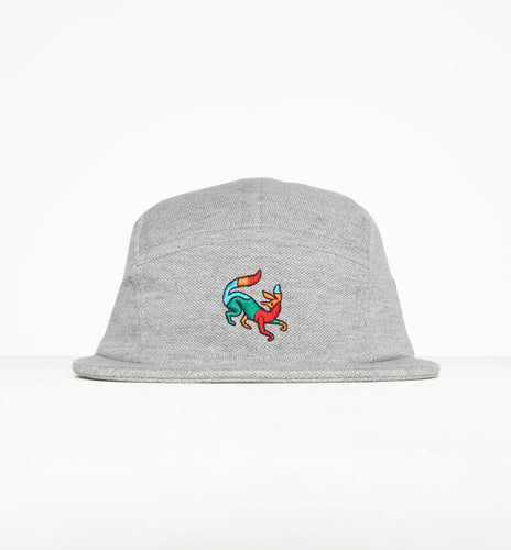 PARRA 5 PANEL VOLLEY HAT CONFUSED FOX // HEATHER GREY