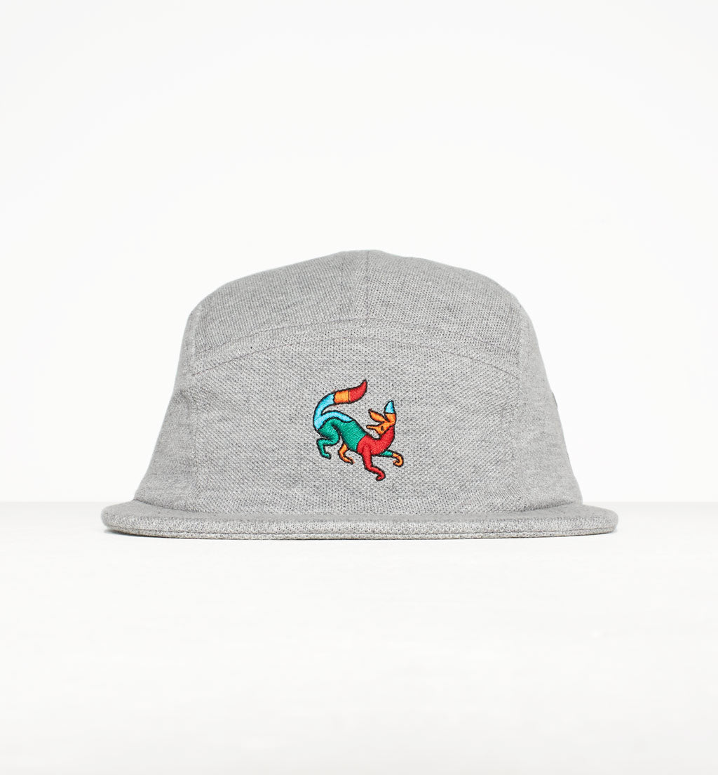c0231e9354459 PARRA 5 PANEL VOLLEY HAT CONFUSED FOX    HEATHER GREY – Collateral