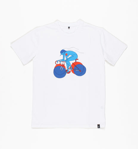 PARRA T-SHIRT BREAK AWAY GIRL // WHITE