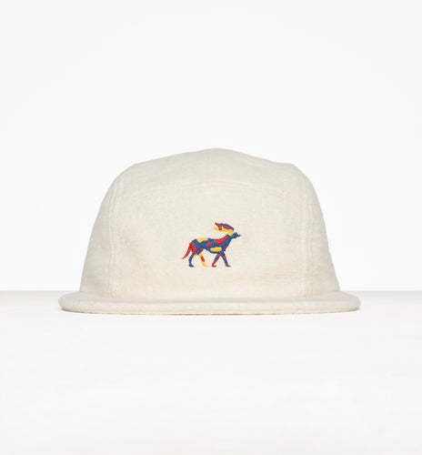 PARRA 5 PANEL VOLLEY HAT RETIRED RACER // NATURAL SOFT FLANNEL