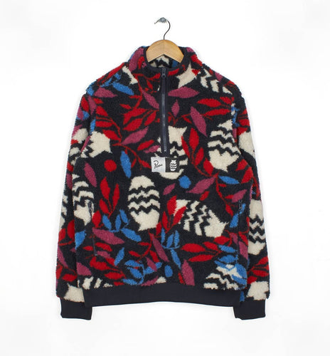 PARRA SHERPA FLEECE PULLOVER STILL LIFE WITH PLANT // MULTI COLOR