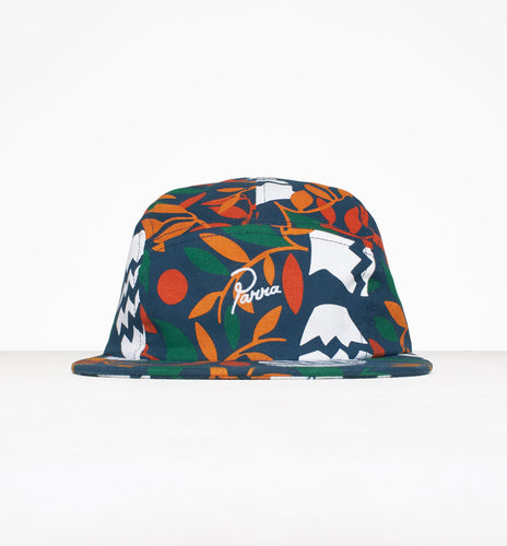 PARRA 5 PANEL VOLLEY HAT STILL LIFE WITH PLANTS // COTTON TWILL