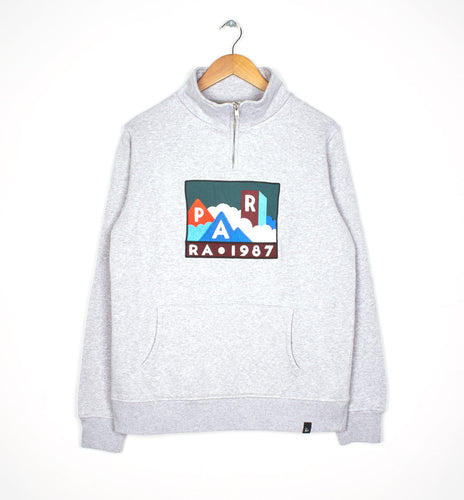 PARRA QUARTER ZIP PULLOVER MOUNTAINS // ASH GREY