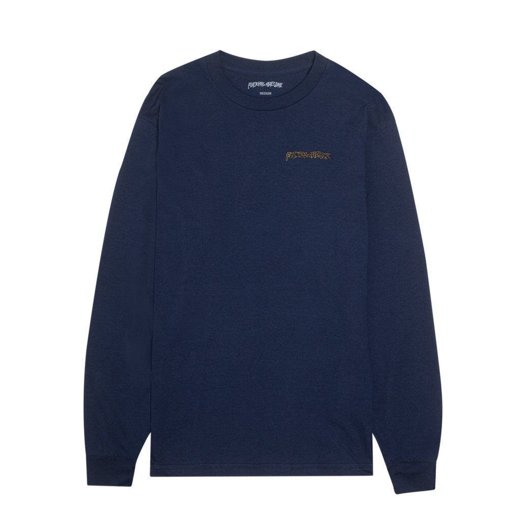 FUCKING AWESOME SKYNET L/S TEE // NAVY