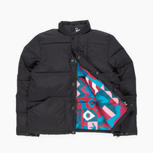 PARRA GRAB THE FLAG PUFFER JACKET // BLACK