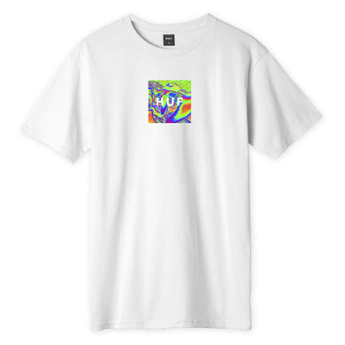 HUF ACID HOUSE BOX LOGO S/S TEE // WHITE