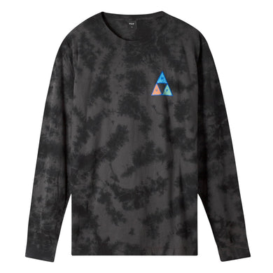 HUF ACID SKULL TRIPLE TRIANGLE LONG SLEEVE T-SHIRT // BLACK
