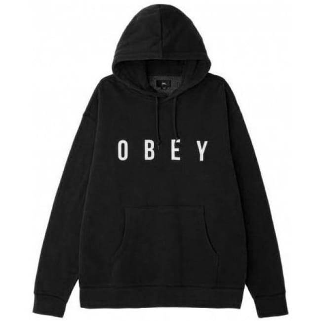 OBEY ANYWAY HOOD // BLACK
