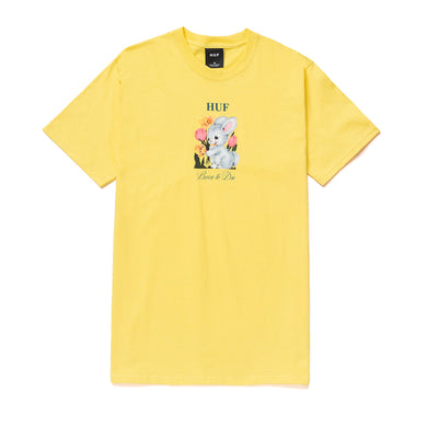 HUF BORN TO DIE S/S TEE // YELLOW