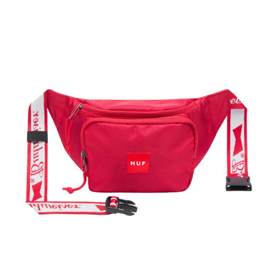 HUF X BUDWEISER COOLER SIDE BAG // RED