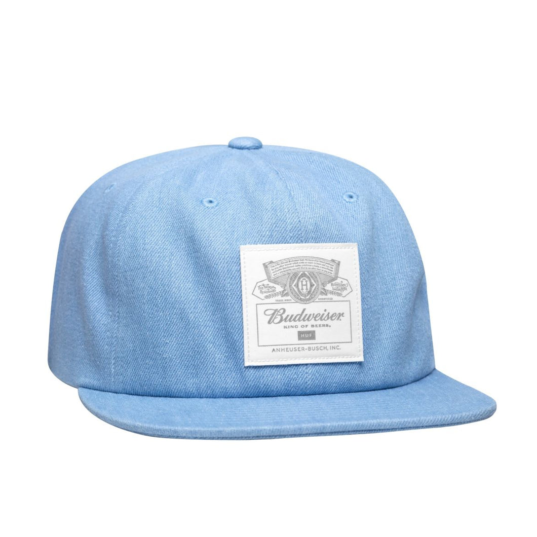 HUF X BUDWEISER LABEL 6-PANEL HAT // INDIGO