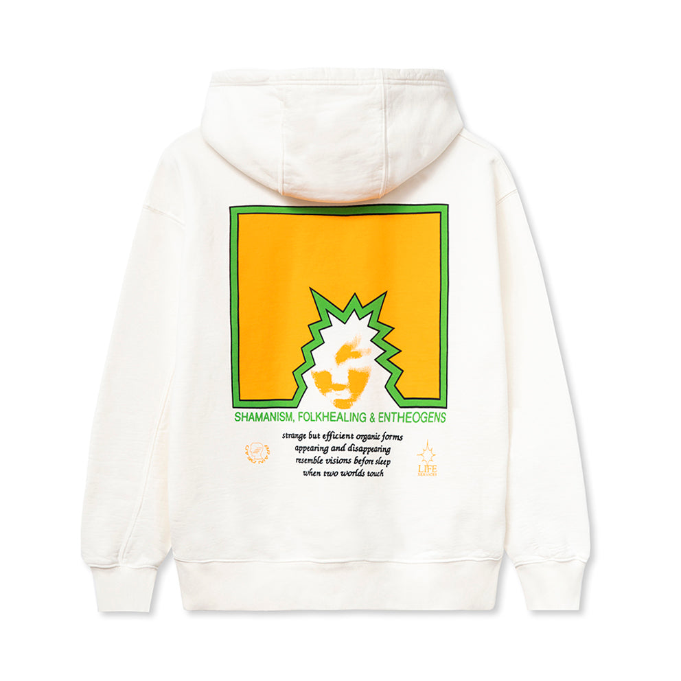 BRAIN DEAD FOLK HEALING L/S HOODED SWEATSHIRT // NATURAL