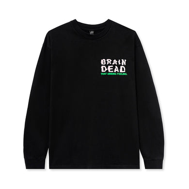 BRAIN DEAD SINKING FEELING L/S T-SHIRT // BLACK