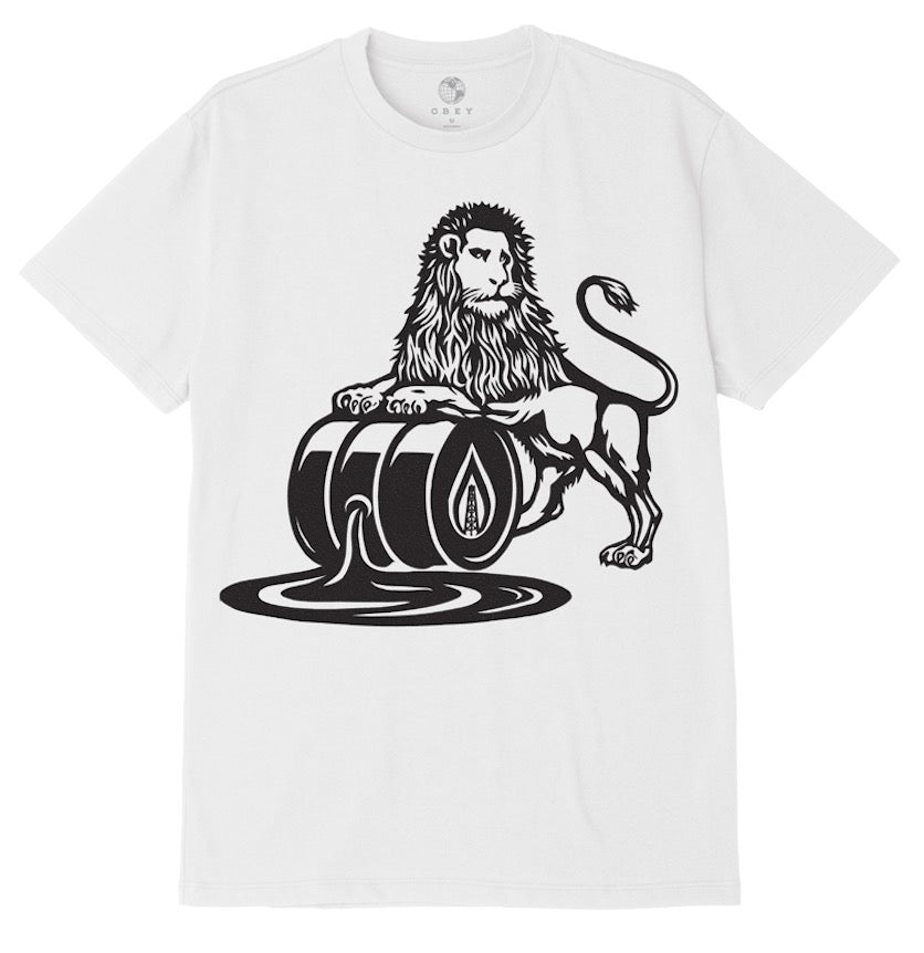 OBEY OIL LION SUSTAINABLE TEE // WHITE