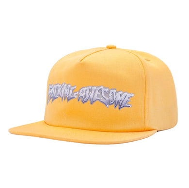FUCKING AWESOME CHROME 5 PANEL CAP // GOLD