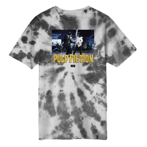 HUF X PULP FICTION DANCE SCENE TIE DYE T-SHIRT // BLACK