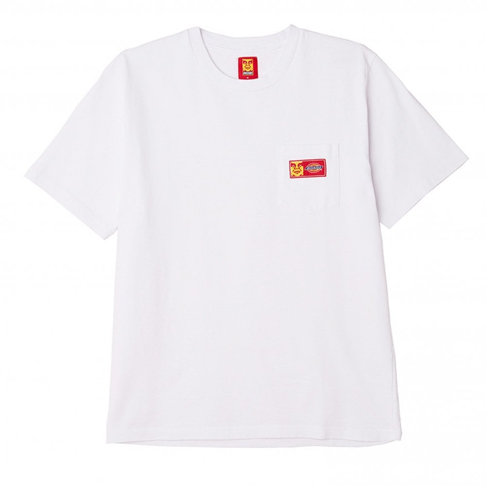 OBEY X DICKIES HEAVYWEIGHT POCKET T-SHIRT // WHITE