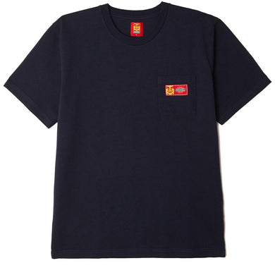 OBEY X DICKIES HEAVYWEIGHT POCKET T-SHIRT // DARK NAVY