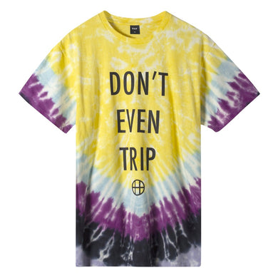 HUF DON'T EVEN TRIP S/S TEE // YELLOW
