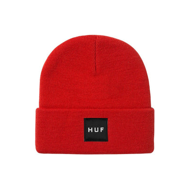 HUF ESSENTIALS BOX LOGO BEANIE // CYBER RED