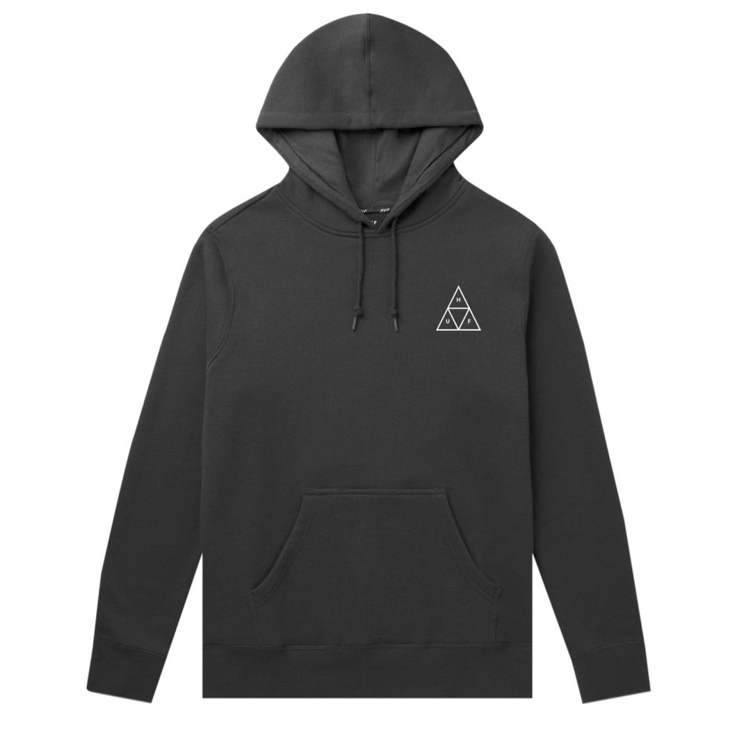 HUF ESSENTIALS TRIPLE TRIANGLE PULLOVER HOODIE // BLACK