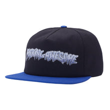 FUCKING AWESOME CHROME 5 PANEL CAP // BLACK/ROYAL