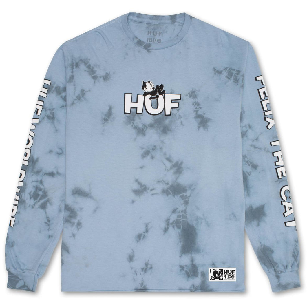 HUF X FELIX CRYSTAL WASH LONG SLEEVE TEE // LIGHT BLUE