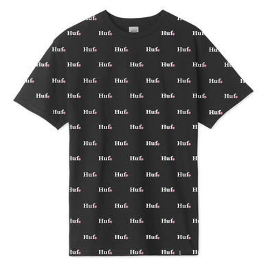 FLOWER SHOP ALL-OVER PRINT T-SHIRT // BLACK