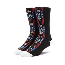 HUF FUCK IT FLAG SOCK // BLACK