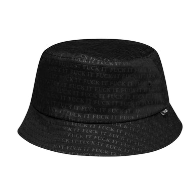HUF FUCK IT REVERSIBLE BUCKET HAT // BLACK/ WHITE